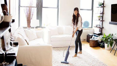 Floor, Interior design, Flooring, Room, Textile, Vacuum cleaner, Couch, Living room, Interior design, Flowerpot,