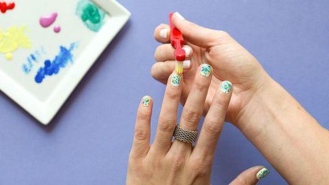 Finger, Blue, Skin, Nail, Nail care, Ring, Jewellery, Thumb, Nail polish, Teal,