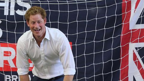 Prince Harry Plays Soccer With Small Children, Seems to Have Lost
