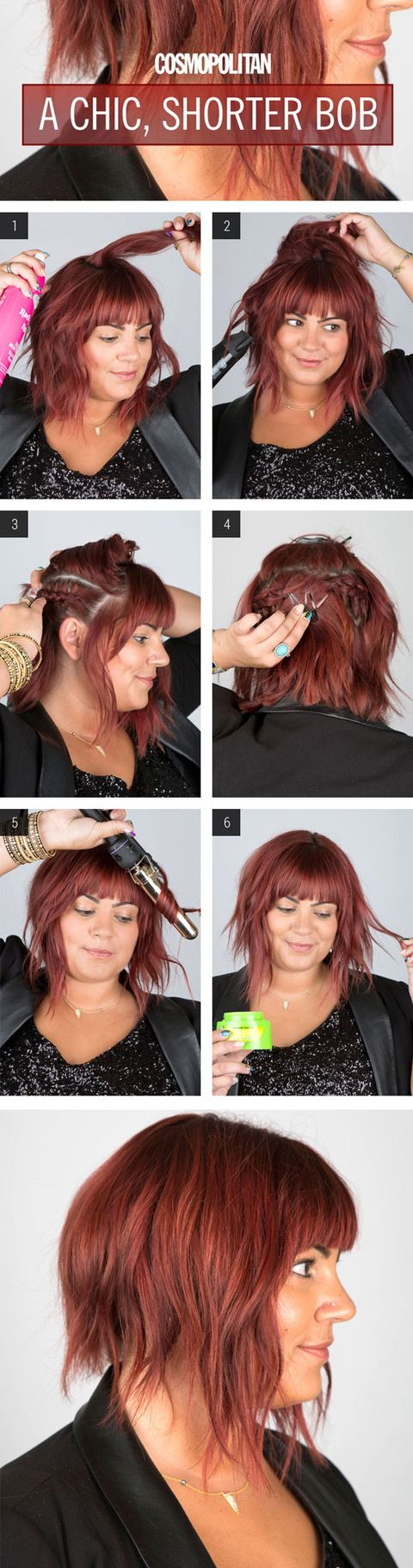 how to cut your own hair short layers