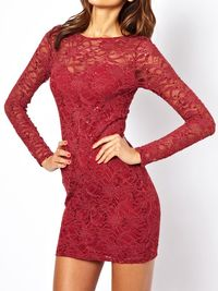 "<b>Lipsy Lace Sequin Dress</b>, $87.12, <a href=""http://us.asos.com/Lipsy-Lace-Sequin-Dress/111mse/?iid=3259033&SearchQuery=red%20%20lace%20dress&sh=0&pge=0&pgesize=36&sort=-1&clr=Darkred&mporgp=L0xpcHN5L0xpcHN5LUxhY2UtU2VxdWluLURyZXNzL1Byb2Qv""target=""_blank"">asos.com</a>"