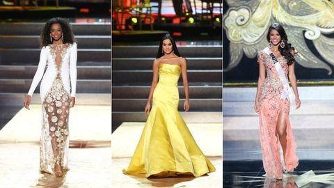 Clothing, Yellow, Formal wear, Dress, Style, Waist, Fashion model, Beauty, Fashion accessory, Fashion,