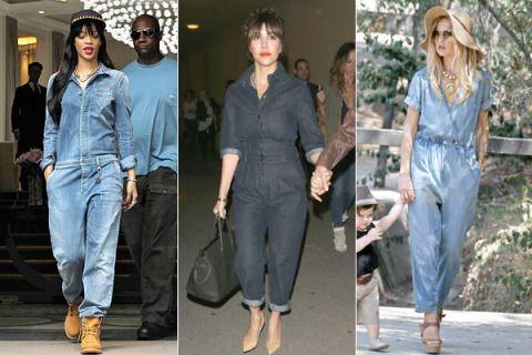 Celebrities Wearing Denim Jumpsuits Denim Jumpsuits