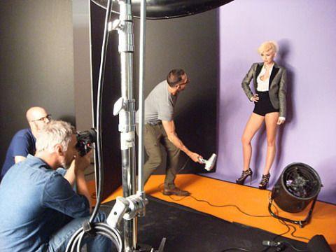 Looking fierce on-set with photographer Matthias Vriens-McGrath