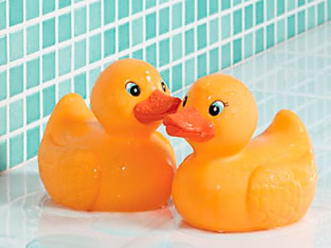 FYI: You might want to cover your rubber ducky's eyes.
