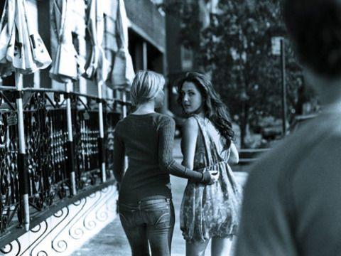 Photograph, Jeans, Mammal, Monochrome, Style, Monochrome photography, Black-and-white, Dress, Black, Street fashion,