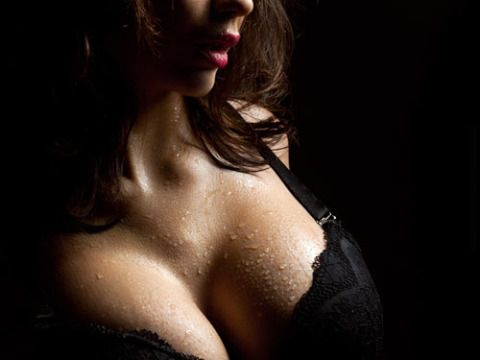 Lip, Skin, Shoulder, Brassiere, Black hair, Jaw, Chest, Beauty, Neck, Black,