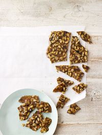 Crunchy raw pepitas and warm cinnamon add a salty-sweet-spicy burst of flavor to a basic brittle.