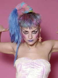"""<p>With her rain-blo colored hair and outrageous steez, the German chanteuse was very """"Little Monster"""" decades before the pop diva uttered her first goo-goo-ga-ga.</p>"""