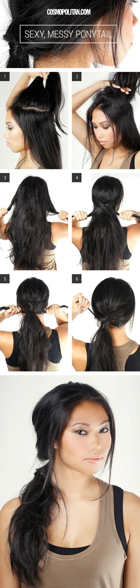 Gather The Center Section Of Your Hair Youll Want To Separate This Portion Away From Rest So That You Can Tease It Build Volume In