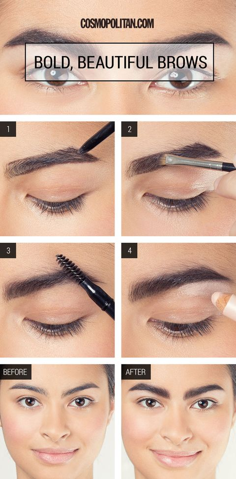 Brow Tutorial How To Fake Fuller Brows