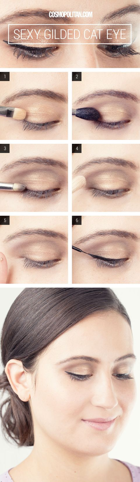 Gold Cat Eye Makeup How To Eye Makeup How To