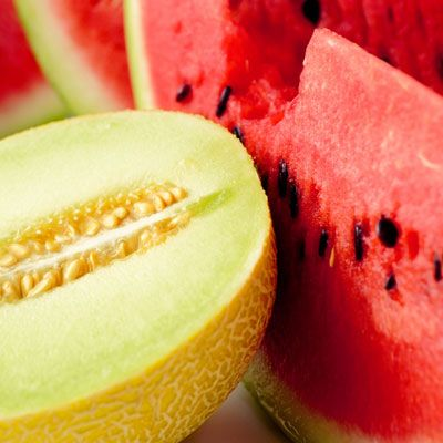 "<p>These juicy melons are heavy in carotenoids, which help protect your skin from sunburn. Don't let fruit be your only protection though.</p> <p><a href=""http://www.realbeauty.com/skin-makeup/solutions/sun/sunscreen-at-every-age"" target=""_blank"">Find out which sunscreen you should be using in addition to eating a healthy diet</a>.</p>"