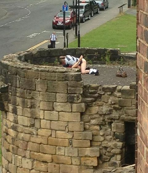 Couple Caught Having Sex On Newcastle Wall  Caught Having -9360