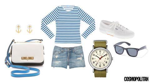 Product, Blue, Sleeve, Collar, Watch, Analog watch, Dress shirt, White, Denim, Font,