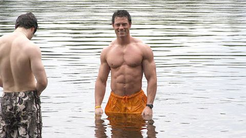 Water, Barechested, Chest, People in nature, Muscle, Trunk, Waist, Abdomen, Stomach, Back,