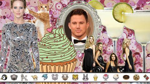 Head, Human, Pink, Lemon, Citrus, Dessert, Cake, Baked goods, Dress, Fruit,
