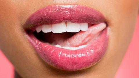 Lip, Cheek, Skin, Eyebrow, Eyelash, Magenta, Pink, Tooth, Facial expression, Jaw,