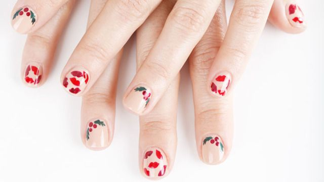 Mistletoe manicure nail art how to mistletoe nails tutorial prinsesfo Image collections