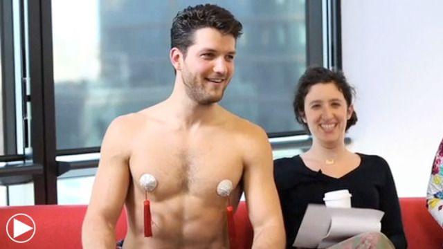 Do Enjoy This Shirtless Man Shimmying With Nipple Tassels -7204