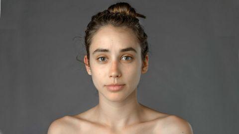 Ear, Nose, Lip, Cheek, Hairstyle, Skin, Chin, Forehead, Shoulder, Eyebrow,