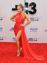 <p>Adrienne killed it in her red gown at the BET Awards and those sick bedazzled shoes! </p>
