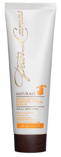 "<p><a href=""http://www.peterlamas.com"" target=""_blank"">Peter Lamas Exfoliating Pumpkin Facial Scrub</a><br /><br />This scrub, loaded with apple, almond and pumpkin enzymes, leaves our skin feeling like pure silk without any tightness or redness. <br /><br /></p>"