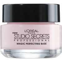 """<p>These are a must. They help makeup adhere to your skin longer, and many of them also blur any imperfections. Try L'oreal Studio Secrets Professional Magic Perfecting Base,</p><p> </p><p>$12.95, <a href=""""http://www.drugstore.com/products/prod.asp?pid=270550&catid=183548"""" target=""""_blank"""">Drugstore.com</a></p>"""