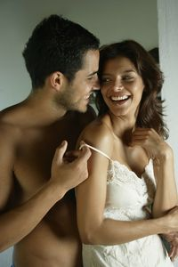 <p>A rear entry position, (aka doggy style) is the best for men on the shorter side because it allows the deepest penetration. Try lying flat on the bed or propped up on your hands or elbows. If you're a curvier woman, move your knees further apart to spread your legs so he can go deeper. Ask him to hold your ankles apart if you're uncomfortable or get tired.</p>