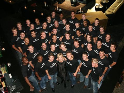 Social group, Denim, Jeans, Team, Flash photography, Aerospace engineering, Crew, Musical ensemble,