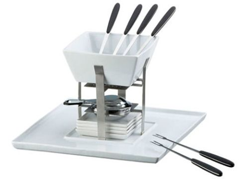 """Whether it's dinner or dessert, fondue is one of the sexiest dishes on the planet. 15-piece set, $49.95 at <a href=""""http://www.crateandbarrel.com"""" target=""""_blank"""">crateandbarrel.com </a>"""