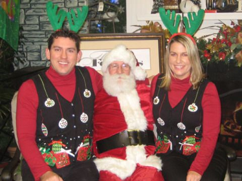 They already have matching button-down vests and antlers. What more could they possibly be asking Santa for?