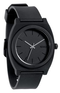 <p>A watch is usually a pretty boring choice, but Nixon's 'The Time Teller' watch in matte is a great alternative if your boo is allergic to metal or just looking for a cool new accessory.</p>