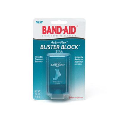 "Band-Aid Blister Block ($7.49) is tiny enough for your purse (it's about the size of dental floss) and lets you target specific areas on your feet where you're prone to get blisters. But it's only a preventative product...if you've already got a nasty blister, try a ""second-skin"" product, like Spenco's 2nd Skin Blister Kit ($8.75)."