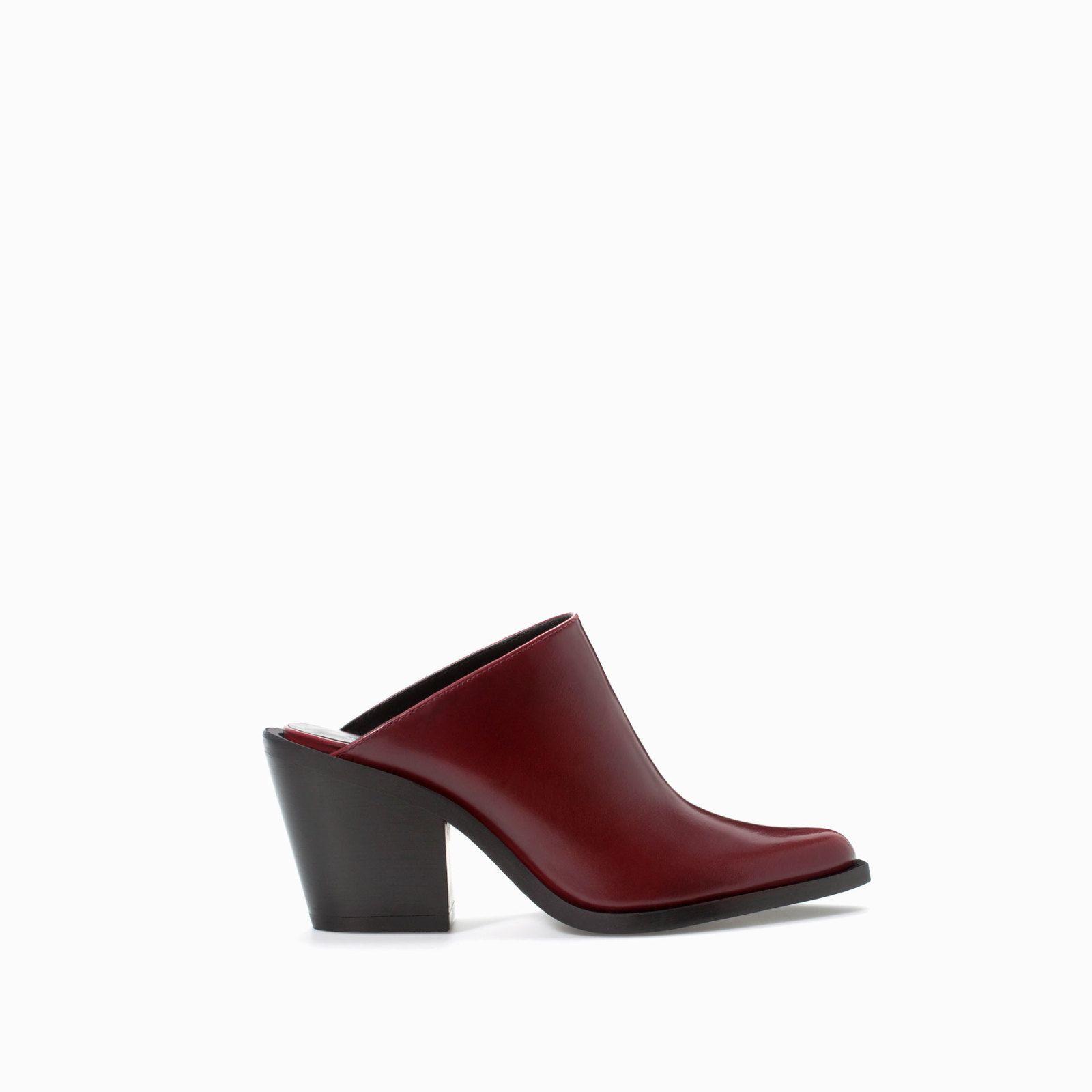Leather high-heeled bootie, £69.99, Zara