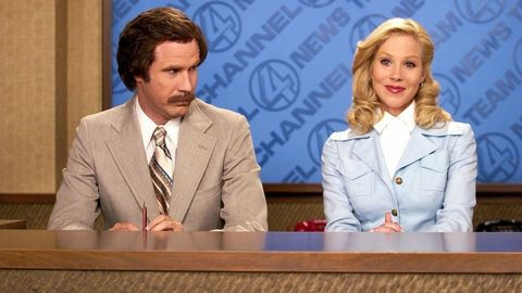 Ron Burgundy and Veronica Corningstone in Anchorman