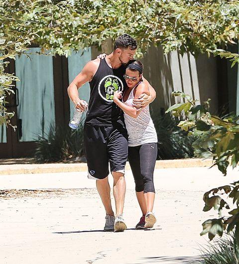 Lea Michele Matthew Paetz affectionate on romantic hike cosmopolitan.co.uk