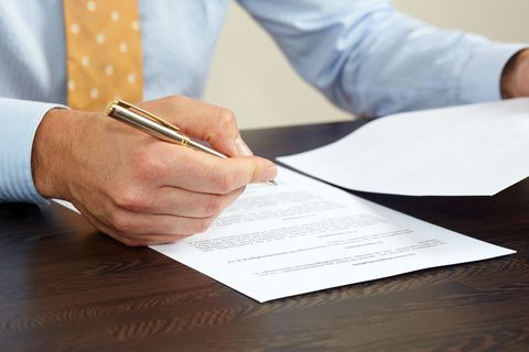 Document signed professional