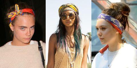 5 ways to wear head scarves - celebrity hair trends summer 2014 - cosmopolitan.co.uk