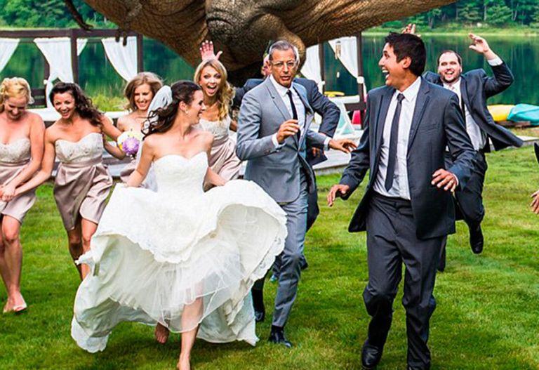 Jeff Goldblum Juric Park Wedding Photo