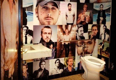 Ryan Gosling toilet bathroom San Diego Bang Bang