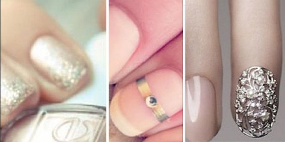 Chic bridal nail art inspiration for your wedding day prinsesfo Image collections