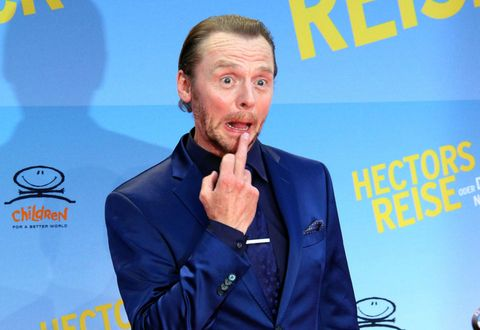 Simon Pegg Twitter takeover Cosmopolitan Hector and the Search for Happiness
