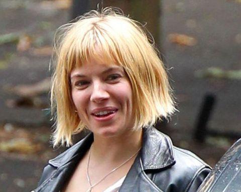 Sienna Miller's bob cut hairstyles
