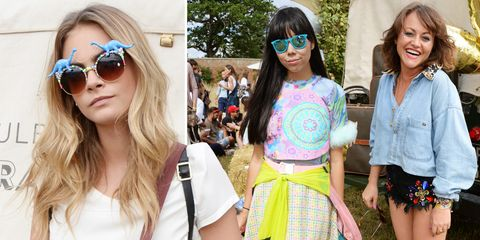 Cara Delevingne hosts fashionable Mulberry picnic at Wilderness Festival 2014 - celebrity fashion events - cosmopolitan.co.uk