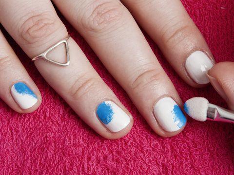 Diy Nail Art Rainbow Tie Dye In Five Easy Steps