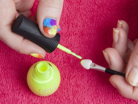 Diy nail art rainbow tie dye in five easy steps diy nail art rainbow tie dye prinsesfo Image collections