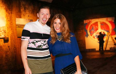 Professor Green and Millie Mackintosh look cute at Lynx's Make Love Not War event