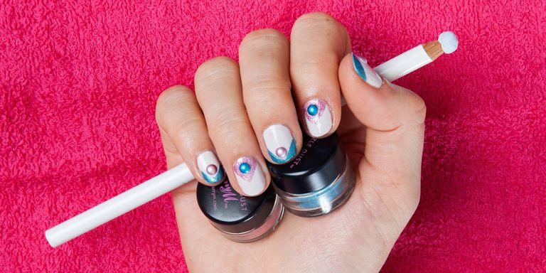 Diy nail art how to make nail tints using eye shadows prinsesfo Images