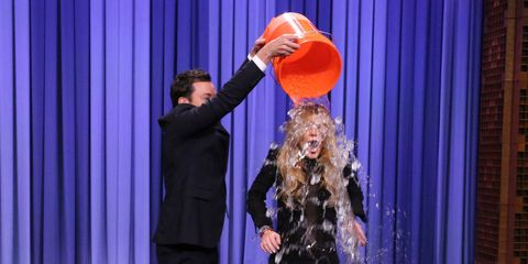 VIDEO: Lindsay Lohan takes on the Ice Bucket Challenge on The Tonight Show Starring Jimmy Fallon